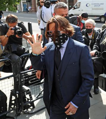 Mr Depp has given evidence in court (Yui Mok/PA)
