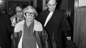Fernande Grudet also known as Madame Claude, with her lawyer Bruno Simonetta at the Court of Cahors during her trial