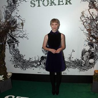 Mia Wasikowska attends a special screening of 'Stoker' at The Curzon in Mayfair, London. PRESS ASSOCIATION Photo. Picture date: Sunday February 17, 2013. Photo credit should read: Lewis Whyld/PA Wire