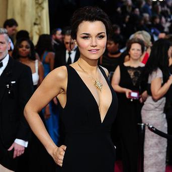 Samantha Barks has been filming with Susan Boyle