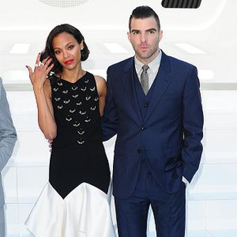 Zoe Saldana and Zachary Quinto play Star Trek couple Uhura and Spock