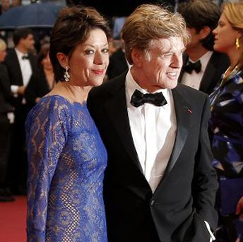 Robert Redford and his wife Sibylle Szaggars at the Cannes screening of All Is Lost (AP)