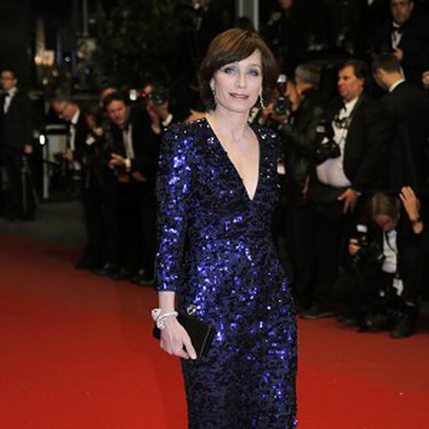 Kristin Scott Thomas attended the premiere of Only God Forgives in Cannes