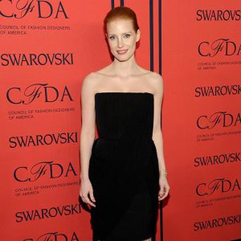 Jessica Chastain says rumours about her taking on the role of Hillary Clinton are wide of the mark