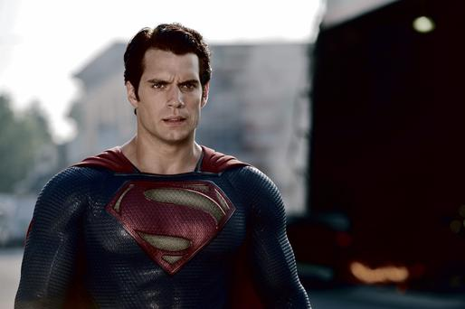 Henry Cavill dons the cape in Man of Steel.
