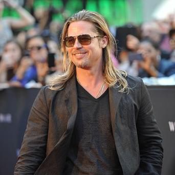 Brad Pitt attending the premiere of World War Z in Times Square