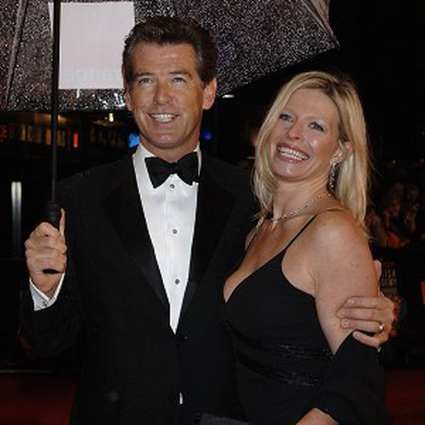 Pierce Brosnan has returned to work following his daughter's death