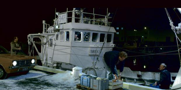 Struggle: It's a hard life for the fishermen on the Iceland trawlers
