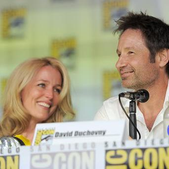Gillian Anderson and David Duchovny of The X-Files were reunited at Comic-Con