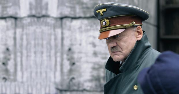 Mein Fuhrer: Bruno Ganz as Hitler in 'Downfall' and, inset left, 'All Quiet on the Western Front', which Universal agreed to cut to make it more palatable to the Nazis