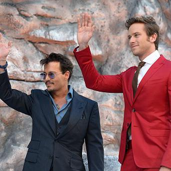 Johnny Depp and Armie Hammer at the UK premiere of The Lone Ranger