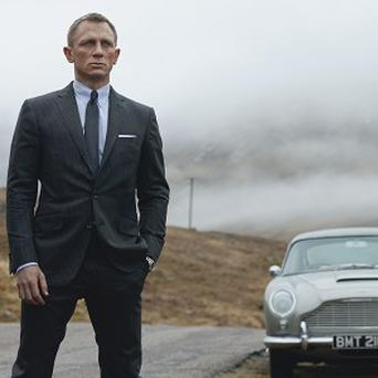 Daniel Craig as James Bond in a scene from Skyfall, which has broken box office records