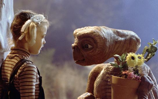 Age of innocence: Drew Barrymore starred in the family classic 'E.T.'