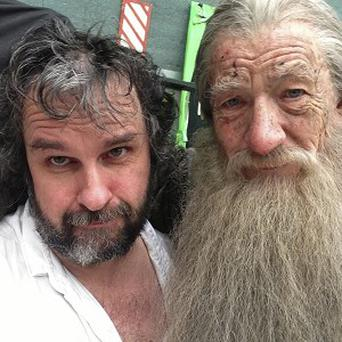 Peter Jackson and Ian McKellen finish filming on The Hobbit movies