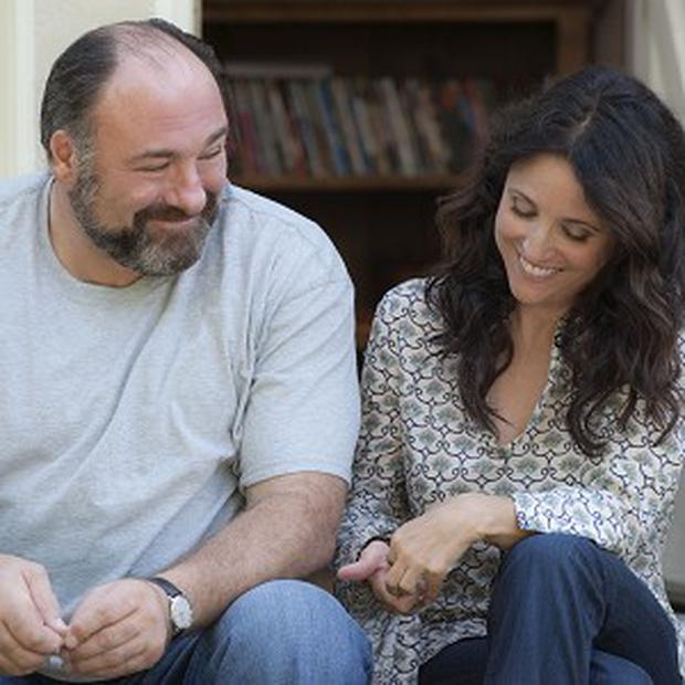 Julia Louis-Dreyfus, right, and James Gandolfini in a scene from the film Enough Said (AP/Fox Searchlight, Lacey Terrell)