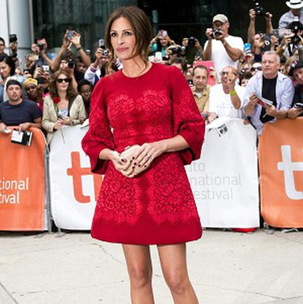 Julia Roberts took to the red carpet in Toronto
