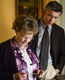 Judi Dench and Steve Coogan, who play the duo in the film 'Philomena'