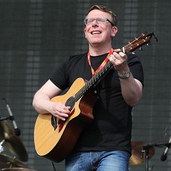 Charlie Reid from The Proclaimers performs during the 20th T in the Park music festival at Kinross