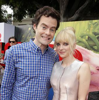Bill Hader and Anna Faris provide their voice talents for Cloudy With A Chance Of Meatballs 2
