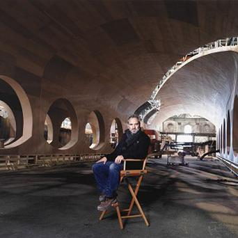 Sam Mendes' picture was taken on the set of Skyfall