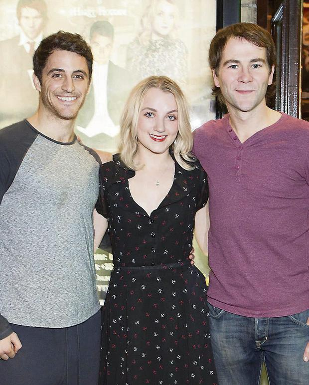 Evanna Lynch with 'Houdini' co-stars Jamie Nichols (left) and Stuart Brennan