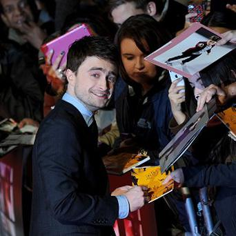 Daniel Radcliffe attends the premiere of Kill Your Darlings in London