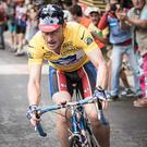 Ben Foster bears an uncanny resemblance to Lance Armstrong in this image from his latest film role