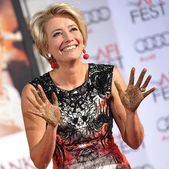 Emma Thompson is honored with a hand and footprint ceremony at the Chinese Theatre in Hollywood