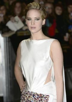 Jennifer Lawrence at the UK premiere of 'The Hunger Games: Catching Fire' in London
