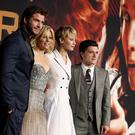 The Hunger Games cast at the German premiere of Catching Fire