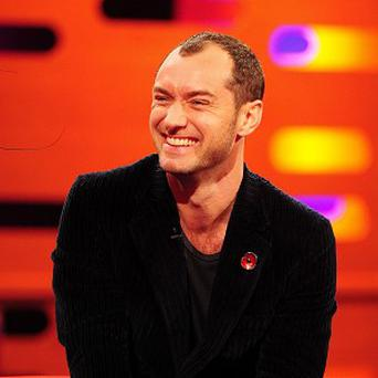 Jude Law says his son is more relaxed about the world of acting than he ever was