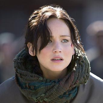 Red hot: Jennifer in 'The Hunger Games: Catching Fire'