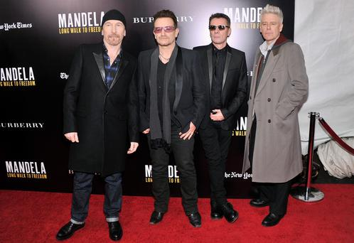 U2 at the launch of: Mandela Long Walk to Freedom