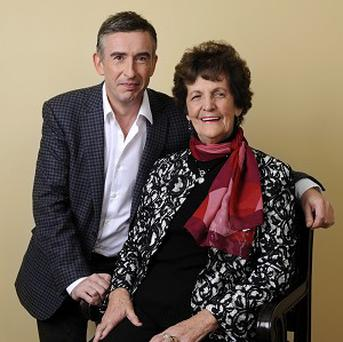 Philomena Lee poses with Philomena star Steve Coogan