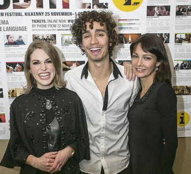 Robert Sheehan, Amy Huberman and Evgenia Brik at the Subtitle Film Festival