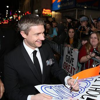 Martin Freeman at the Los Angeles premiere of The Hobbit: The Desolation of Smaug