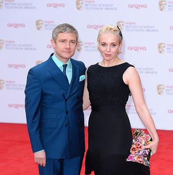 Martin Freeman and Amanda Abbingdon are part of the Sherlock cast for series three