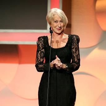 Helen Mirren at the 27th Annual American Cinematheque Award presentation ceremony