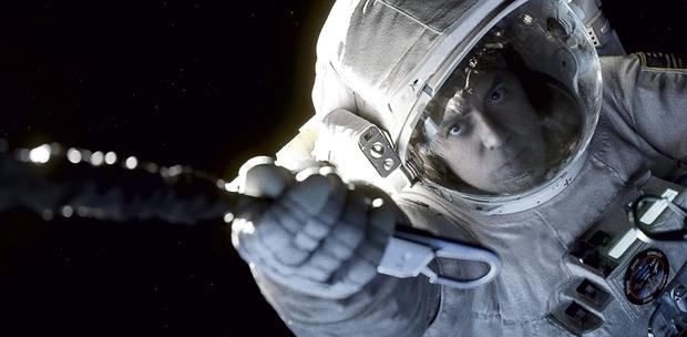 Watch this space: George Clooney in this year's thriller 'Gravity'
