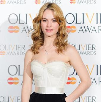 Lily James lost her father to cancer five years ago