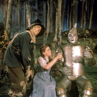 Ray Bolger, Judy Garland and Jack Haley star in The Wizard Of Oz