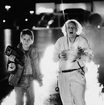 Michael J Fox and Christopher Lloyd starred in sci-fi hit Back To The Future
