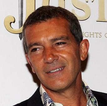 Antonio Banderas arrives at the UK Premiere of Justin and the Knights of Valour at the May Fair Hotel, London.