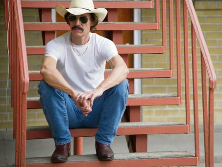 Helping people help themselves: Matthew McConaughey as Ron Woodroof in the film 'Dallas Buyers Club'.