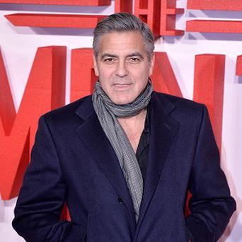 George Clooney was at the premiere of The Monuments Men in London