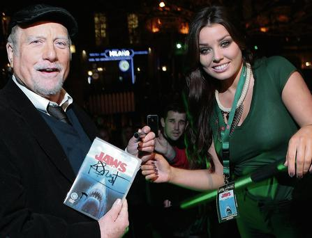 Richard Dreyfuss with fan Susan Vickers at The Mansion House