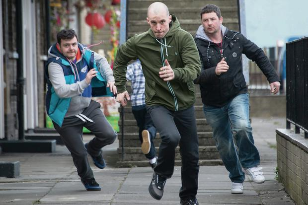 A scene from the last series of 'Love/Hate'