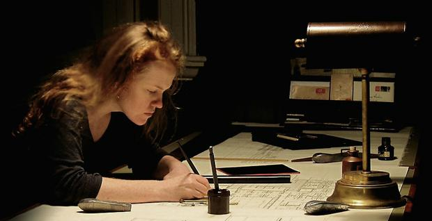 Woman of letters: The Grand Budapest Hotel's chief graphic designer Annie Atkins at work