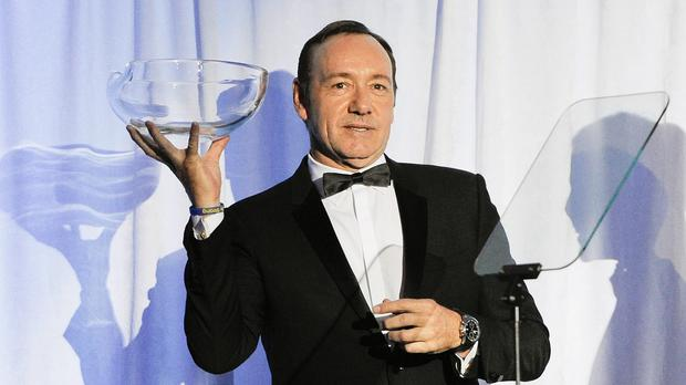Kevin Spacey was honoured at the Museum Of The Moving Image in New York