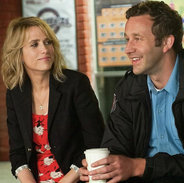 Chris O'Dowd with Kristen Wiig in 'Bridesmaids'